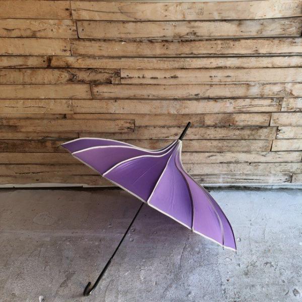 TOPANGA FASHION サーカステントパゴダ雨傘 パープル