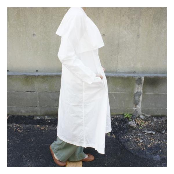 UNIVERSAL TISSU  タイプライターシャツトレンチ ホワイト|abracadabra|02
