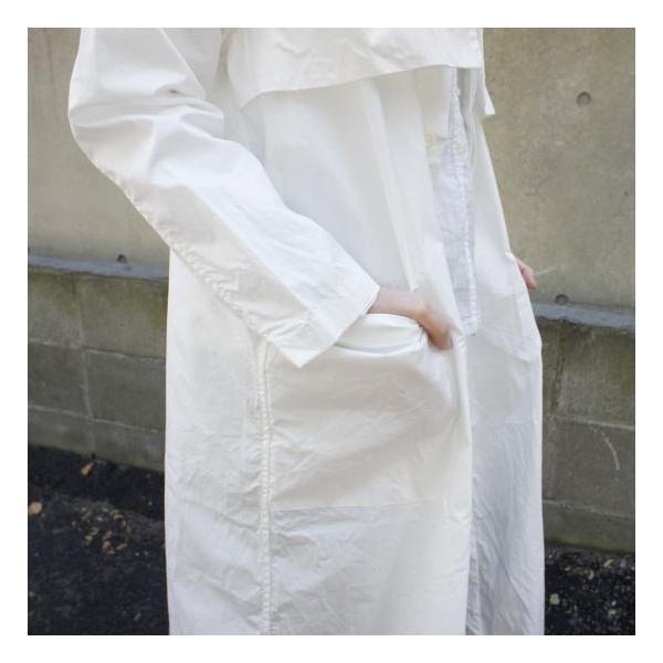 UNIVERSAL TISSU  タイプライターシャツトレンチ ホワイト|abracadabra|03