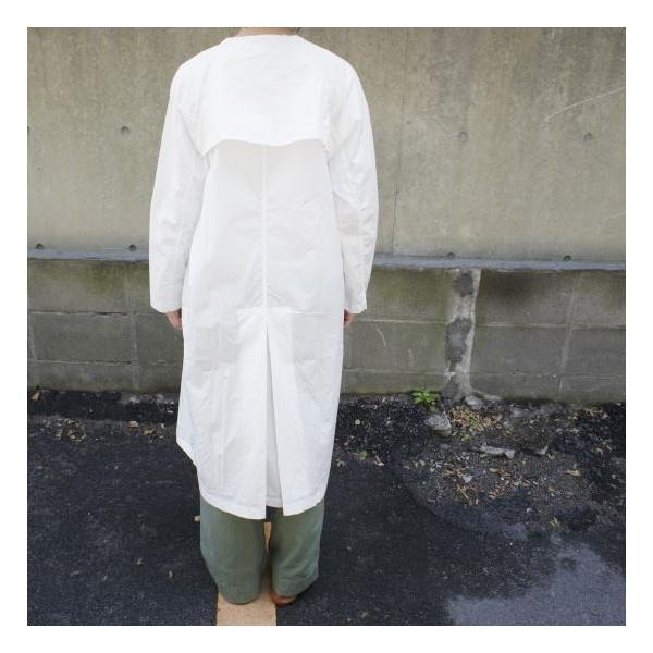 UNIVERSAL TISSU  タイプライターシャツトレンチ ホワイト|abracadabra|04