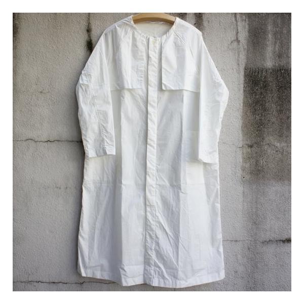 UNIVERSAL TISSU  タイプライターシャツトレンチ ホワイト|abracadabra|05