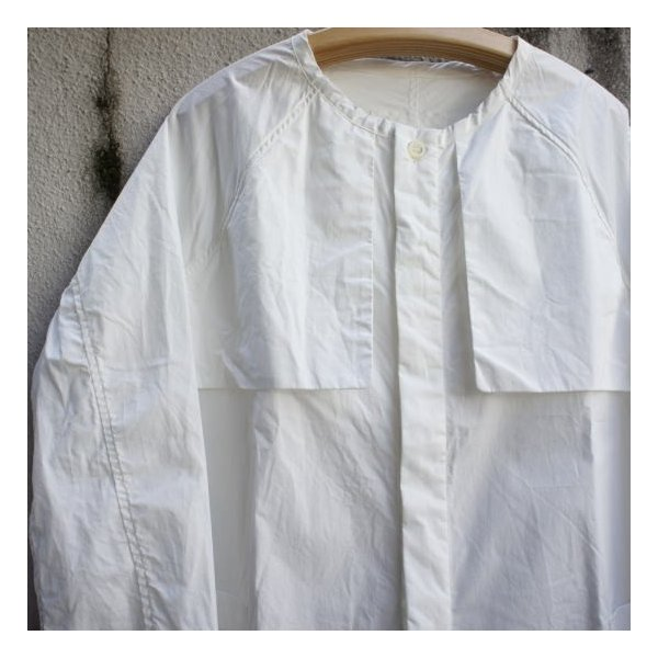 UNIVERSAL TISSU  タイプライターシャツトレンチ ホワイト|abracadabra|06