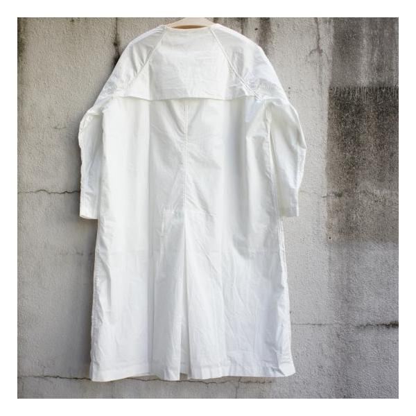 UNIVERSAL TISSU  タイプライターシャツトレンチ ホワイト|abracadabra|07