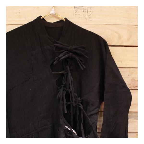 Bohemiano Japan カディラバーリラップワンピース 藍/鉄黒|abracadabra|04