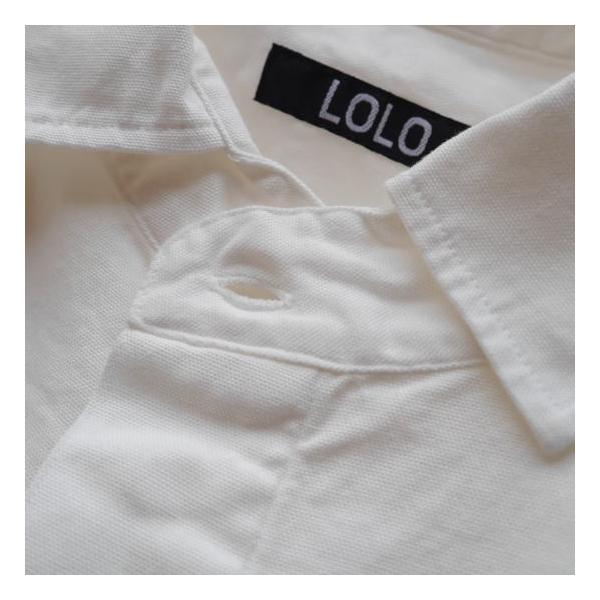 LOLO ロロ 定番比翼シャツ オフホワイト LS-89|abracadabra|10