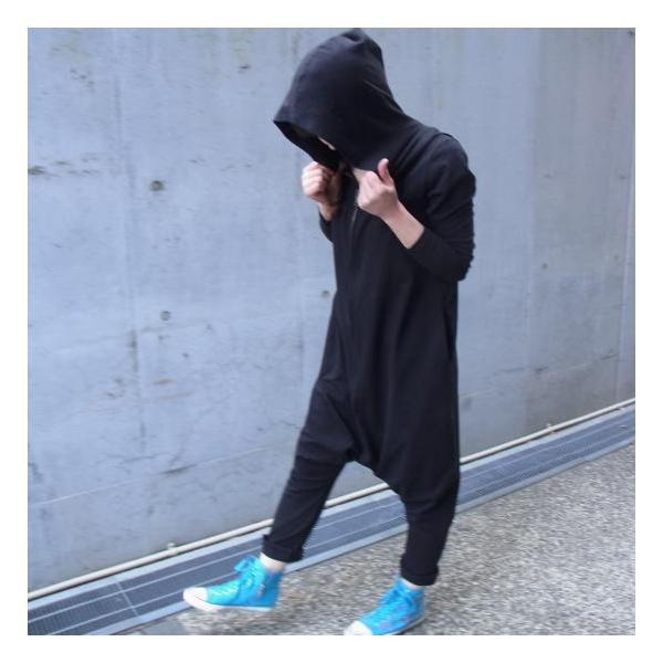 オリガミZIPPER長袖ジャンプスーツ ブラック|abracadabra|02