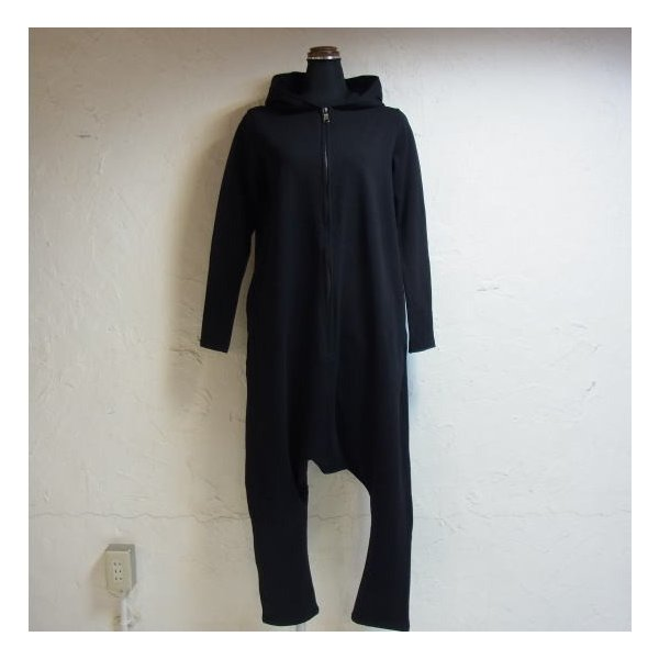 オリガミZIPPER長袖ジャンプスーツ ブラック|abracadabra|03