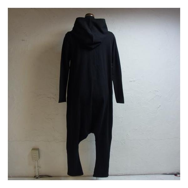 オリガミZIPPER長袖ジャンプスーツ ブラック|abracadabra|06