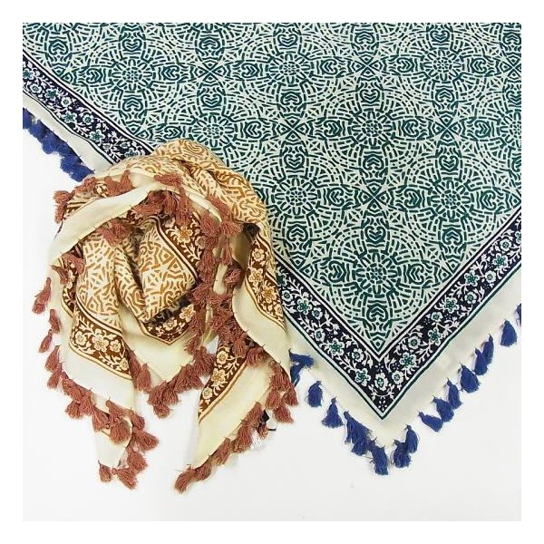 ペイズリー正方形スカーフ 全2色|abracadabra