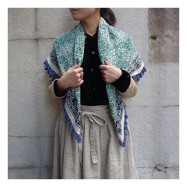 ペイズリー正方形スカーフ 全2色|abracadabra|05