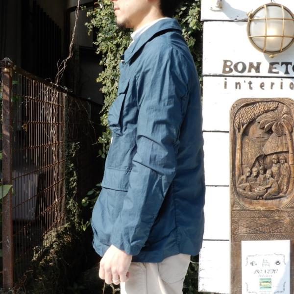 LOLO (ロロ) タイプライターカバーオールジャケット ブルー|abracadabra|02