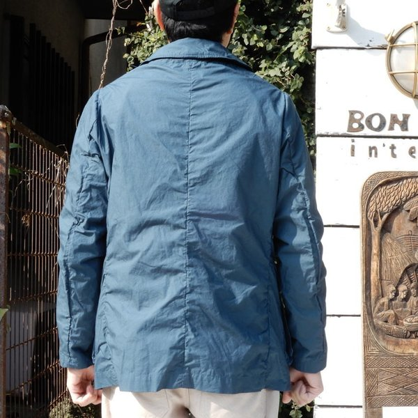 LOLO (ロロ) タイプライターカバーオールジャケット ブルー|abracadabra|03