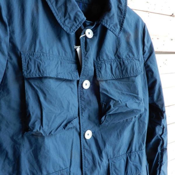 LOLO (ロロ) タイプライターカバーオールジャケット ブルー|abracadabra|07