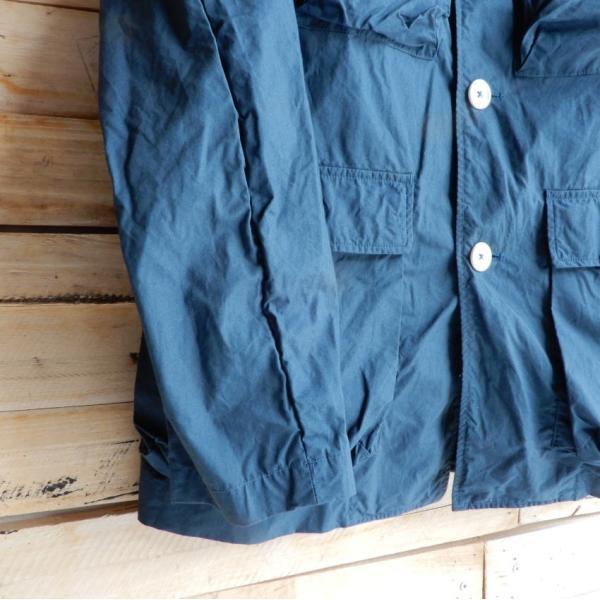 LOLO (ロロ) タイプライターカバーオールジャケット ブルー|abracadabra|09