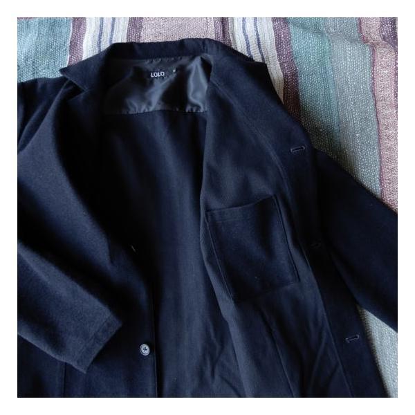 LOLO (ロロ) 綿ウール アンコン シャツジャケット ネイビー|abracadabra|02