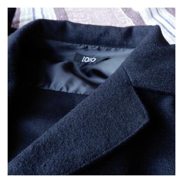 LOLO (ロロ) 綿ウール アンコン シャツジャケット ネイビー|abracadabra|03