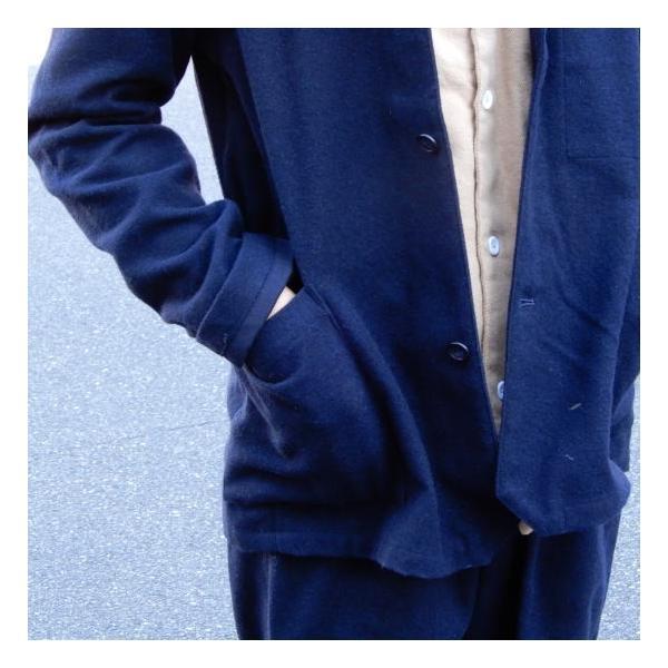 LOLO (ロロ) 綿ウール アンコン シャツジャケット ネイビー|abracadabra|04