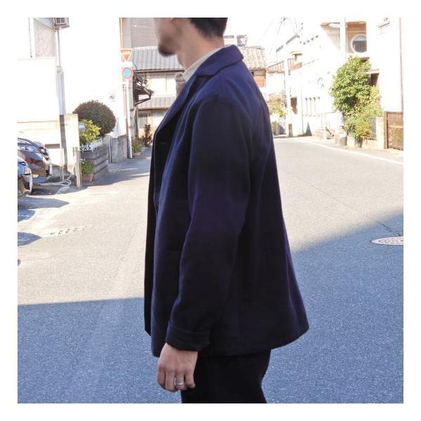 LOLO (ロロ) 綿ウール アンコン シャツジャケット ネイビー|abracadabra|05