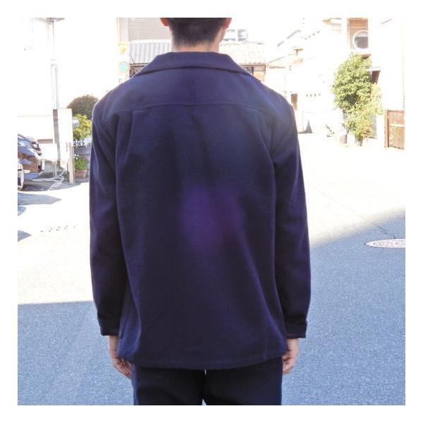 LOLO (ロロ) 綿ウール アンコン シャツジャケット ネイビー|abracadabra|06