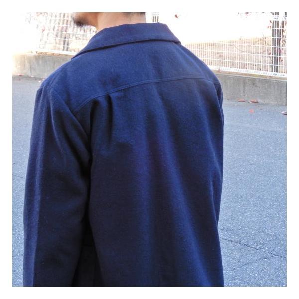 LOLO (ロロ) 綿ウール アンコン シャツジャケット ネイビー|abracadabra|07