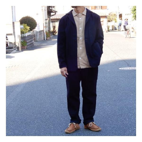 LOLO (ロロ) 綿ウール アンコン シャツジャケット ネイビー|abracadabra|08
