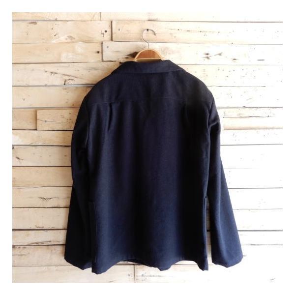 LOLO (ロロ) 綿ウール アンコン シャツジャケット ネイビー|abracadabra|10