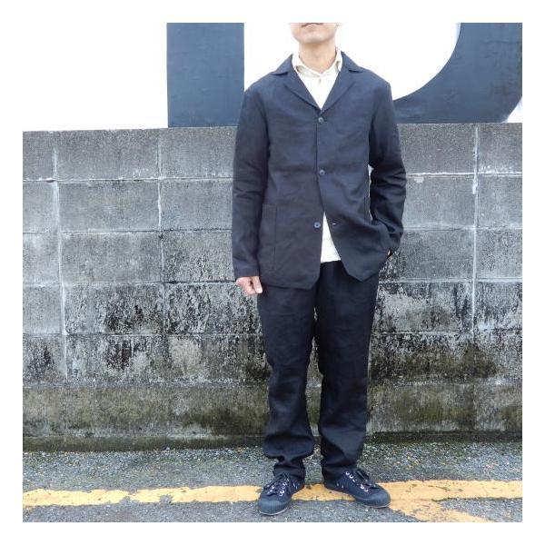 LOLO (ロロ) リネン アンコン シャツジャケット ブラック|abracadabra|06