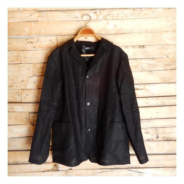 LOLO (ロロ) リネン アンコン シャツジャケット ブラック|abracadabra|07