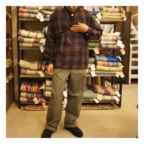 LOLO(ロロ) ブロックチェックアノラックシャツブルゾン ブラウン|abracadabra|05