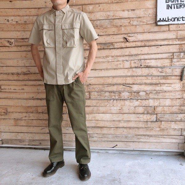 LOLO(ロロ) リップストップ半袖シャツ LS-336|abracadabra|02