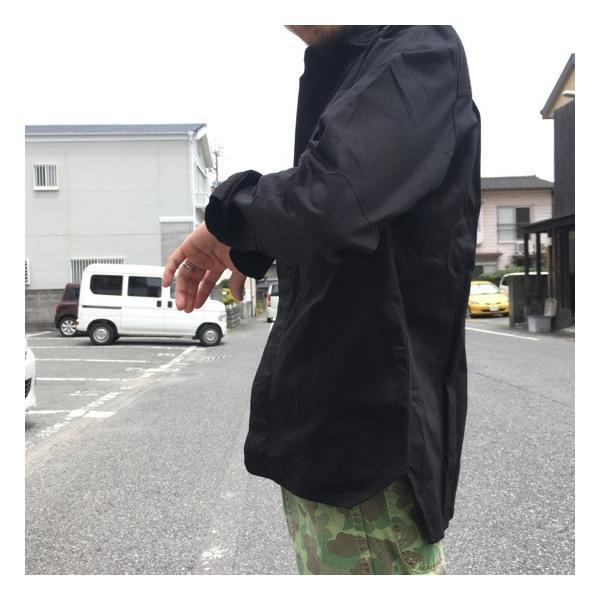 LOLO(ロロ) Wポケット&エルボーパッチ長袖シャツ ブラック|abracadabra|02