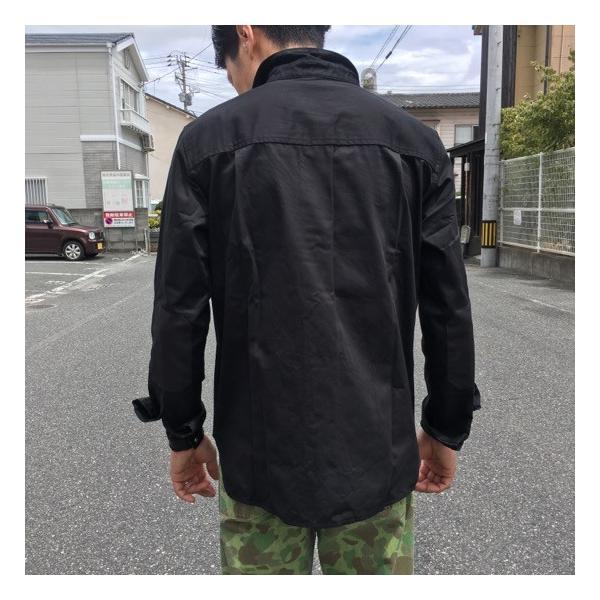 LOLO(ロロ) Wポケット&エルボーパッチ長袖シャツ ブラック|abracadabra|03