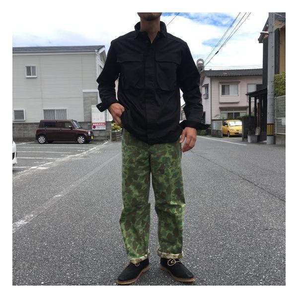LOLO(ロロ) Wポケット&エルボーパッチ長袖シャツ ブラック|abracadabra|04