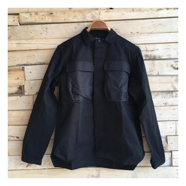 LOLO(ロロ) Wポケット&エルボーパッチ長袖シャツ ブラック|abracadabra|05