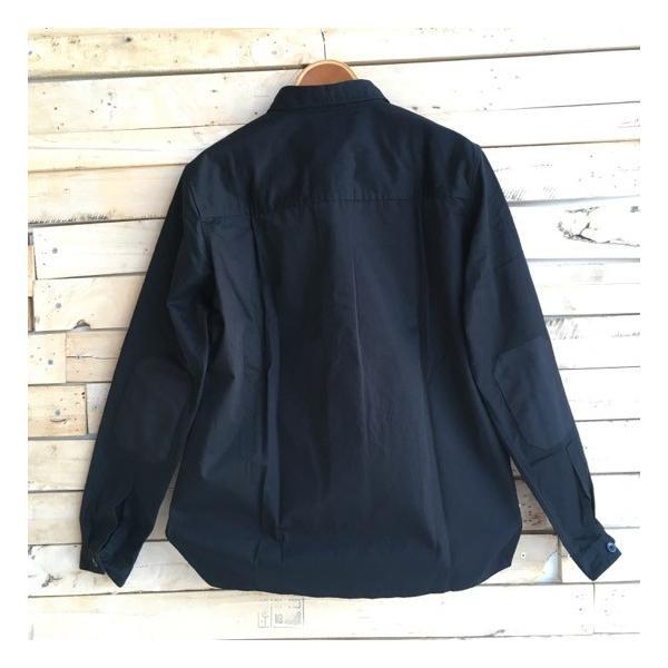 LOLO(ロロ) Wポケット&エルボーパッチ長袖シャツ ブラック|abracadabra|06
