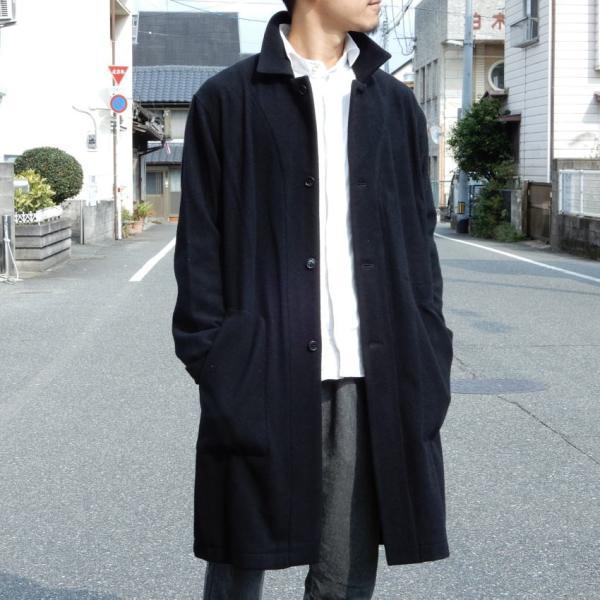 LOLO(ロロ) モッサ裏なしコート ブラック|abracadabra
