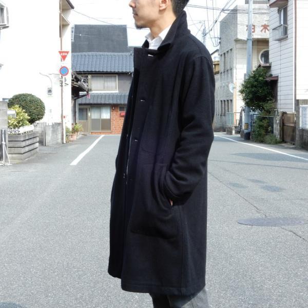 LOLO(ロロ) モッサ裏なしコート ブラック|abracadabra|03