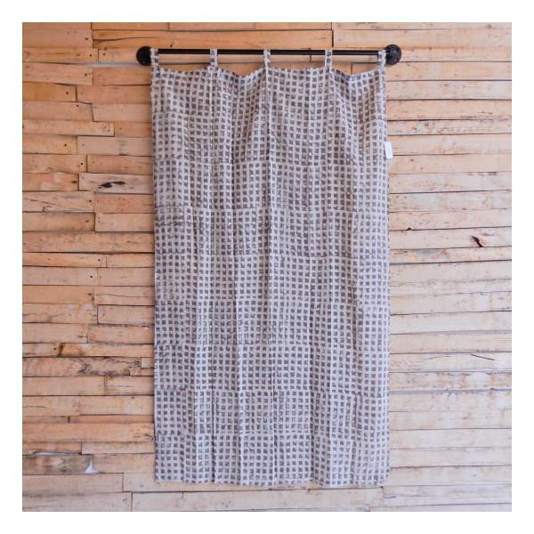 ダブプリントカーテン 105×170cm ホワイト|abracadabra|02