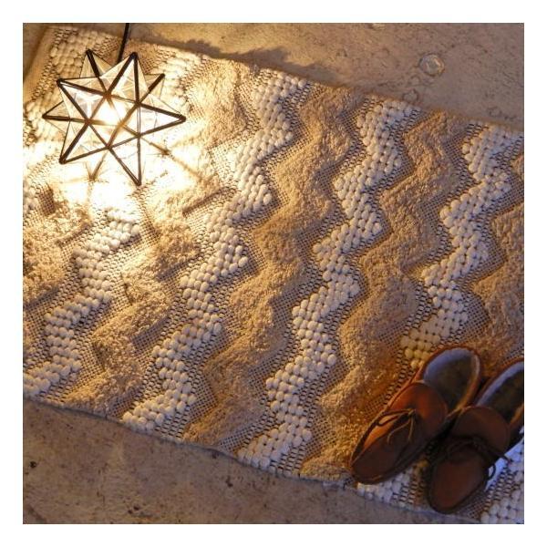 TOPANGA HOMEFURNISHING 手織りのコットンスモールマット テマラ 60×90cm