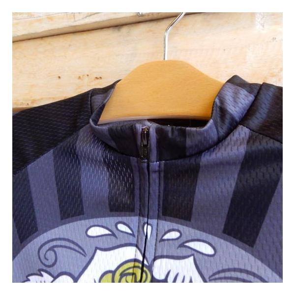 Topanga Fashion スカルサイクリングウェア ブラック|abracadabra|02