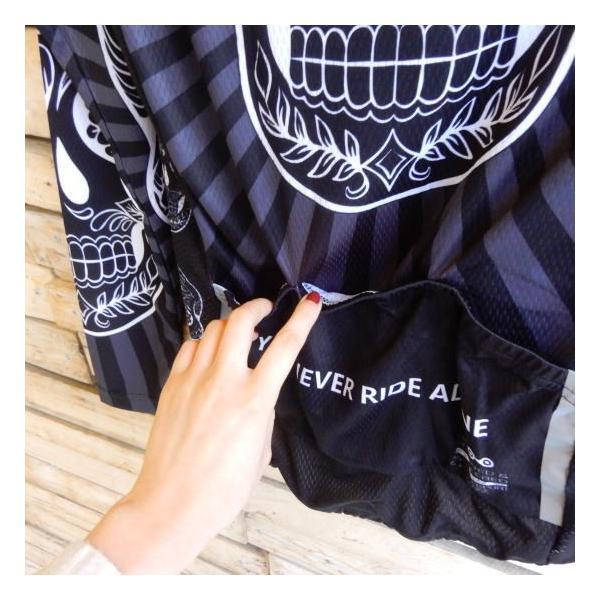 Topanga Fashion スカルサイクリングウェア ブラック|abracadabra|05