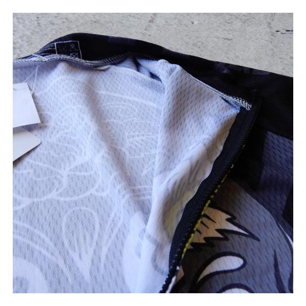 Topanga Fashion スカルサイクリングウェア ブラック|abracadabra|06