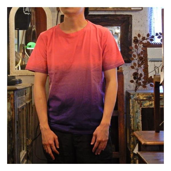 TOPANGA fashion グラデーションTシャツ パープル(メール便可)