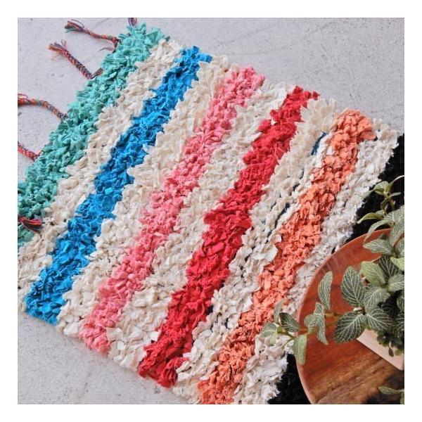 TOPANGA INTERIOR 手織りのカラフルスモールマット ヴォルビリス  60×90cm