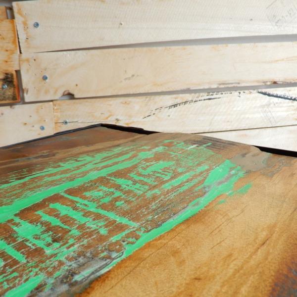 TOPANGA リサイクルウッド&アイアン ダイニングテーブル 135x70cm【送料無料】|abracadabra|06