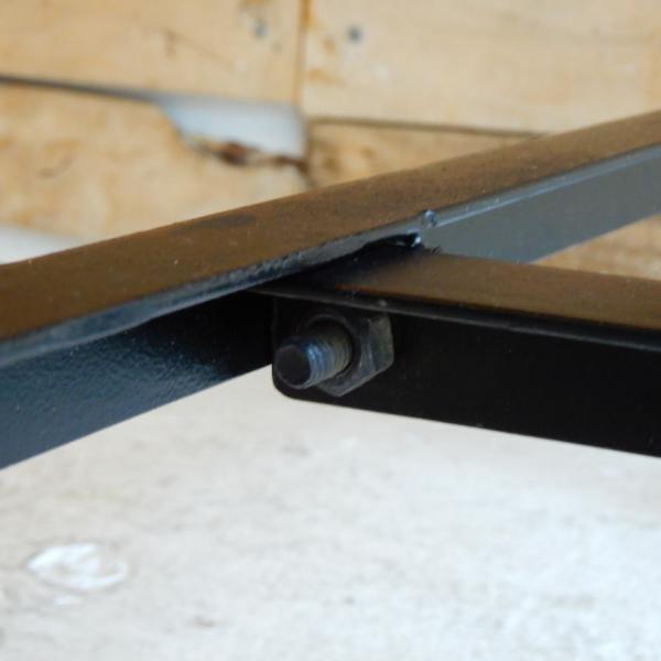 TOPANGA リサイクルウッド&アイアン ダイニングテーブル 135x70cm【送料無料】|abracadabra|10
