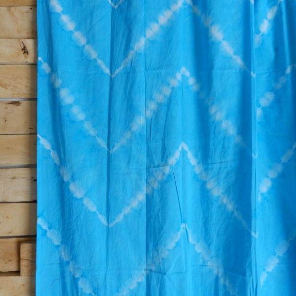 TOPANGA Shibori Curtain シボリカーテン W110xH180cm 青 abracadabra 03