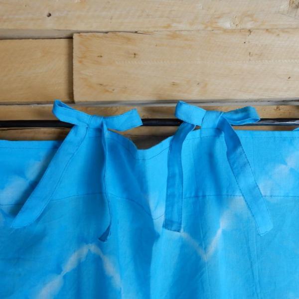 TOPANGA Shibori Curtain シボリカーテン W110xH180cm 青 abracadabra 06