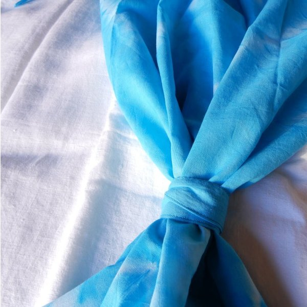 TOPANGA Shibori Curtain シボリカーテン W110xH180cm 青 abracadabra 07