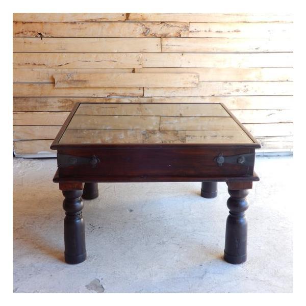 古い木彫刻のローテーブル abracadabra 02